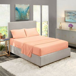 Peach Egyptian Comfort Bed Sheets 4 Piece! Sale!